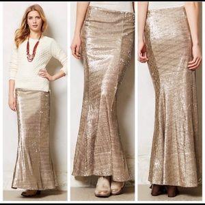 Anthropologie line and dot sirene sequined skirt